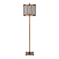 Golden Bronze Cage Edison Floor Lamp