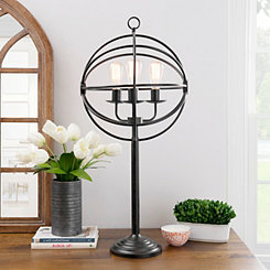 Global Sphere Triple Edison Table Lamp