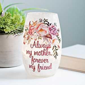 Pre-Lit Floral Sentiment Vase, 5 in.