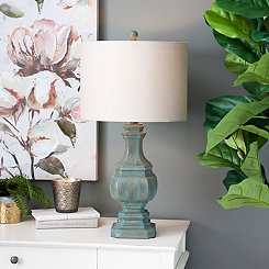 Inlet Blue Table Lamp