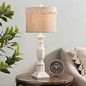 Cream Jolie Fringe Table Lamp