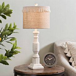 Cream Jolie Fringe Table Lamp