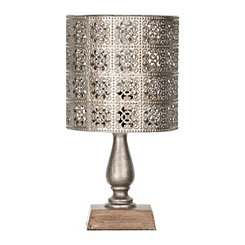 Alexia Pierced Metal Shade Mini Table Lamp