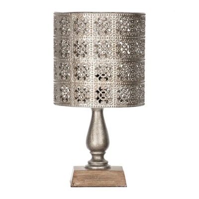 Alexia Pierced Metal Shade Mini Table Lamp
