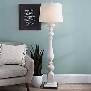 Prussia White and Black Floor Lamp