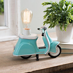 Turquoise Retro Scooter Table Lamp