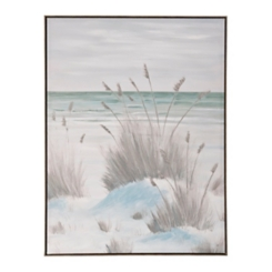 Teal Sand Dunes Framed Art Print