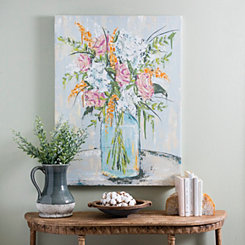 Pastel Bouquet Canvas Art Print