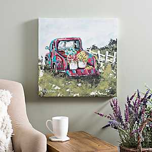 Flower Truck Canvas Art Print