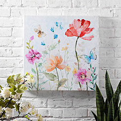 Butterfly Floral II Outdoor Canvas Art Print