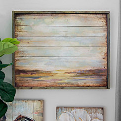 Rustic Landscape Wood Panel Framed Art Print