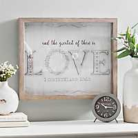 Scrapbook Greatest is Love Shadowbox