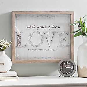 Scrapbook Greatest is Love Shadowbox