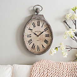 Metal Weave Gray Wall Clock