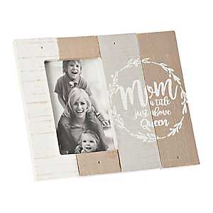 Mom Just Above Queen Plank Picture Frame, 4x6