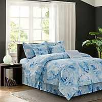 Blue Caroline 7-pc. Queen Comforter Set