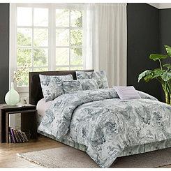 Gray Caroline 7-pc. Queen Comforter Set