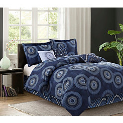 Navy Madeline 7-pc. Queen Comforter Set