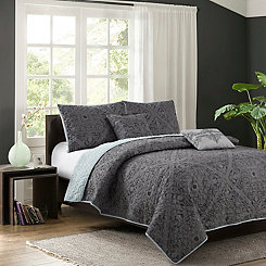 Gray Baker 5-pc. Full/Queen Quilt Set