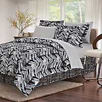 Black Traci 8-pc. King Comforter Set