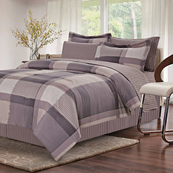 Gray Hannah 8-pc. King Comforter Set