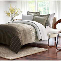 Taupe Ombre Stripe 8-pc. Queen Comforter Set