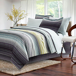 Dark Charcoal Smith 8-pc. Queen Comforter Set