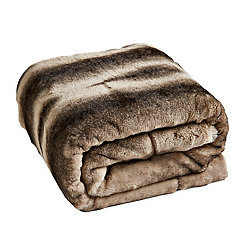 Faux Animal Fur Throw