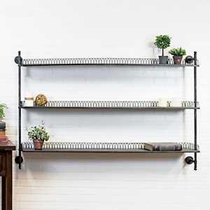 Looped Metal Wall Shelf Rack
