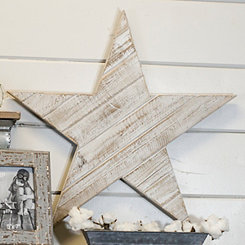 Wooden Star Wall Plaque