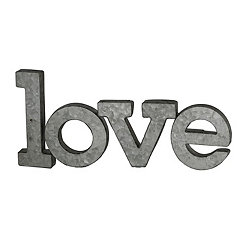 Galvanized Metal Love Word Plaque