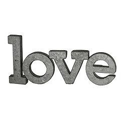 Galvanized Metal Love Word Plaque