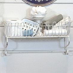 Jamie White Metal Wall Shelf