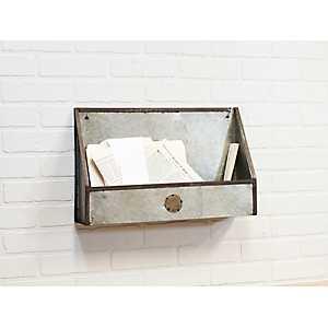 Galvanized Metal Bin Shelf