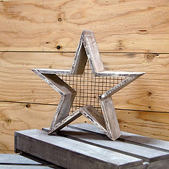 Wood Framed Star Wall Plaque