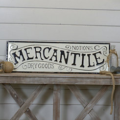 Metal Mercantile Wall Sign
