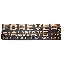 Forever and Always Wood Wall Sign