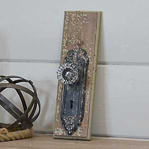 Wood Door Knob Hook Wall Plaque