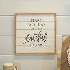 Grateful Wood Wall Plaque