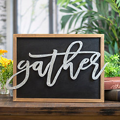 Gather Galvanized Pop-Out Framed Wall Plaque