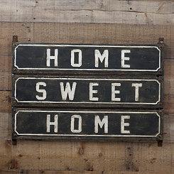 Metal Home Sweet Home Plaque