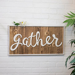 Wood Plank Gather Pop-Out Framed Wall Plaque
