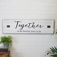 Together is my Favorite Place Wooden Wall Plaque