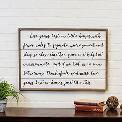 Love Grows Framed Wooden Wall Plaque