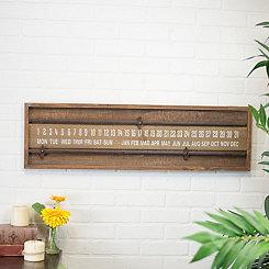 Sliding Wood Calendar