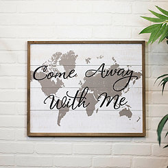 Come Away With Me Framed Wall Plaque