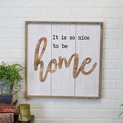 Home Pop Up Framed Wall Plaque
