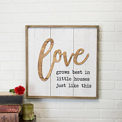 Love Pop Up Framed Wall Plaque