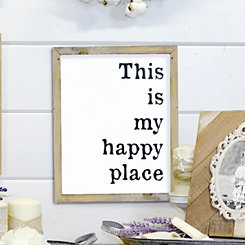 This is My Happy Place Framed Wooden Wall Plaque