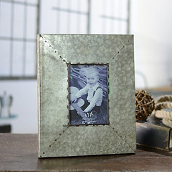 Simple Galvanized Metal Picture Frame, 5x7
